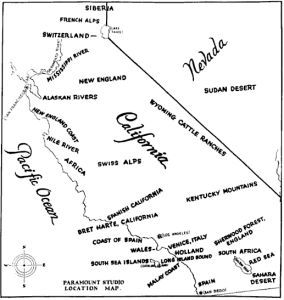 Paramount CA Location map, 1927