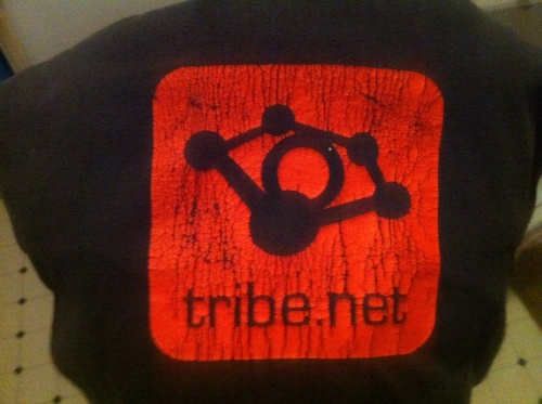 Tribe T-shirt, original logo by staff designer
