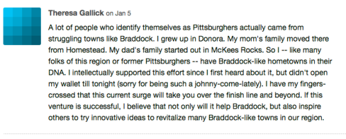 Kickstarter comment